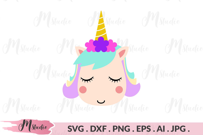 Unicorn face svg example image 1