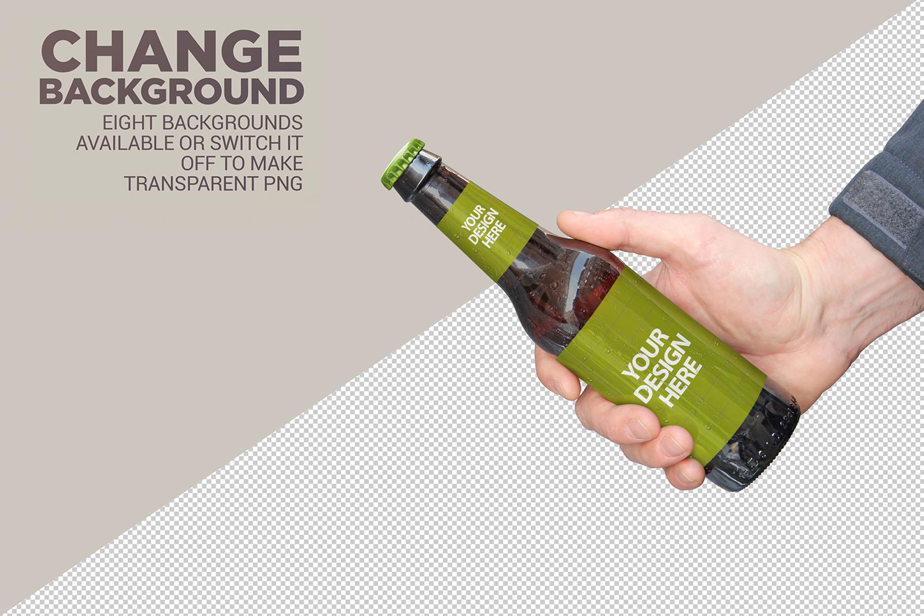Get Beer Bottle Mockup example image 6