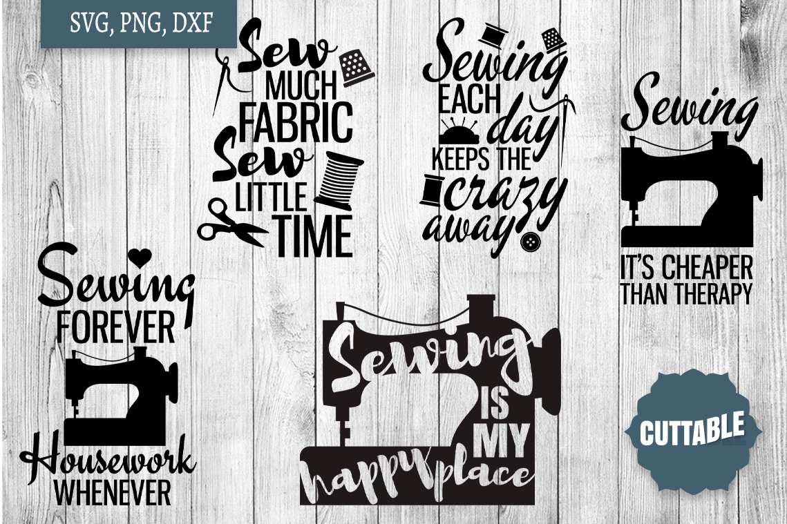 Sewing SVG bundle, Sew crafty, sewing quotes cut file bundle example image 2