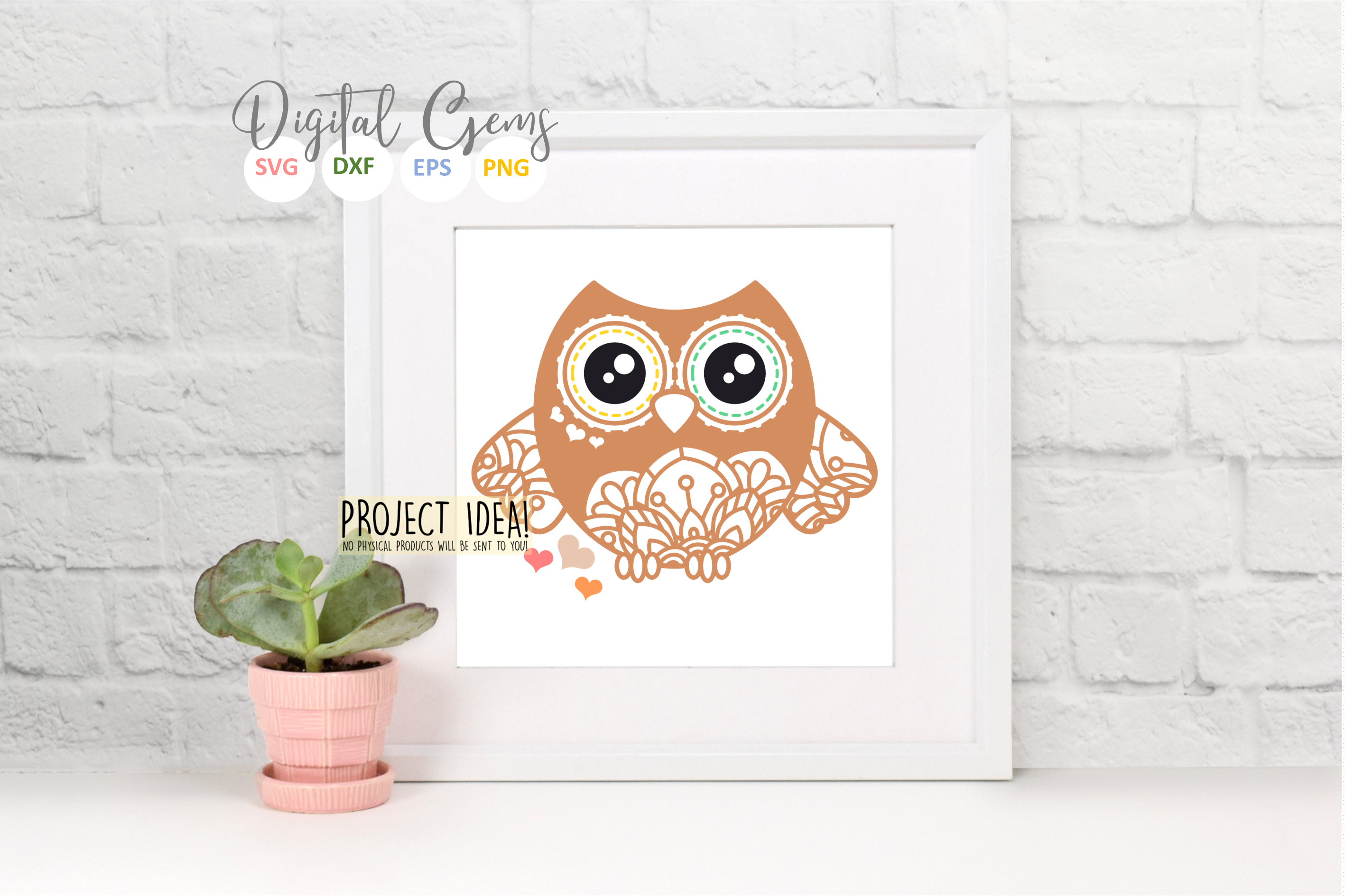 Owl SVG / EPS / DXF / PNG file example image 6