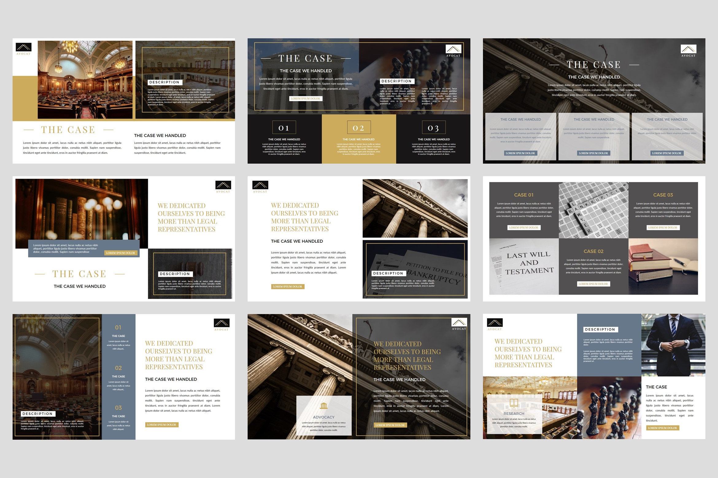 Avocat - Lawyer Google Slides Template example image 3