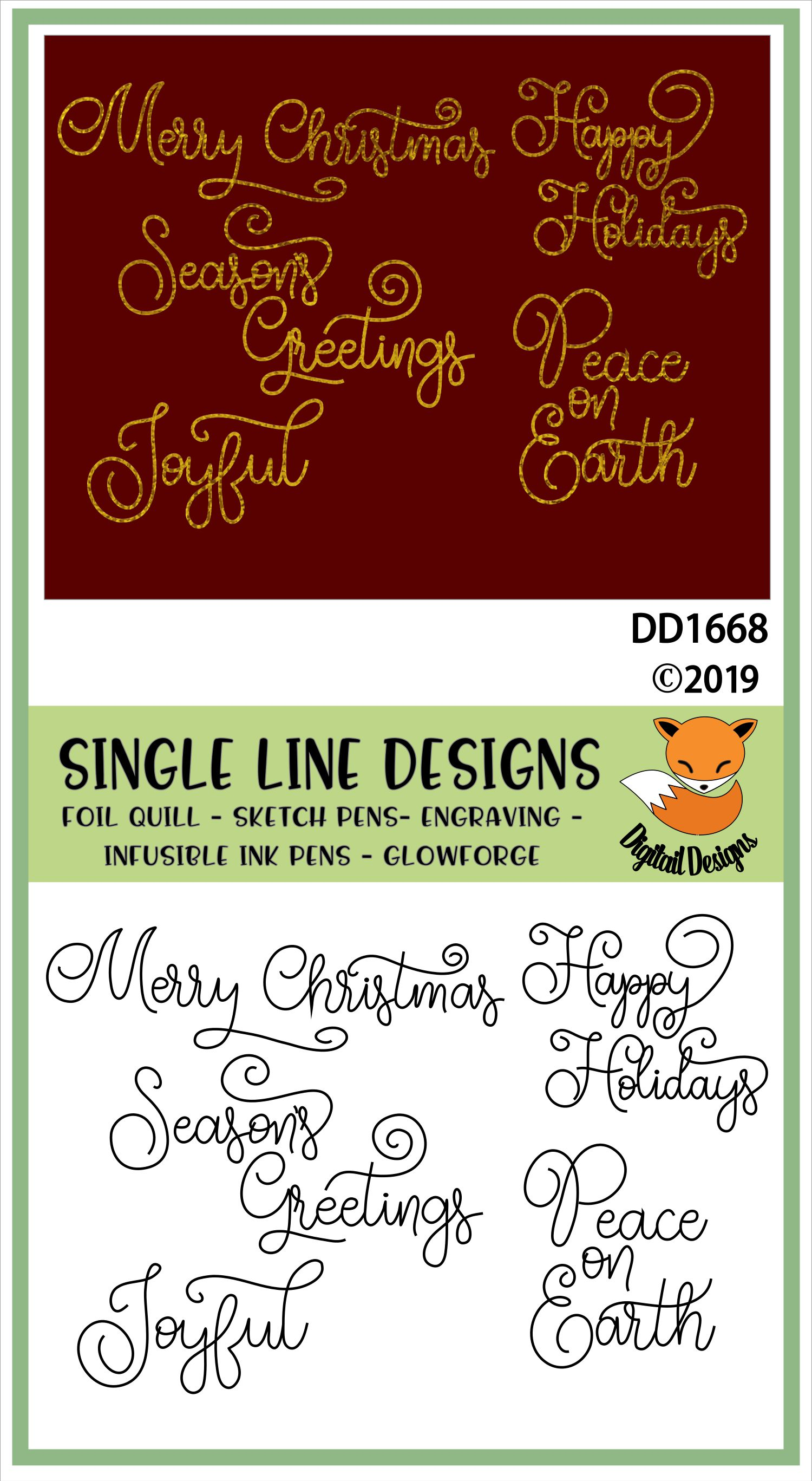 Foil Quill Christmas Greetings Bundle example image 2