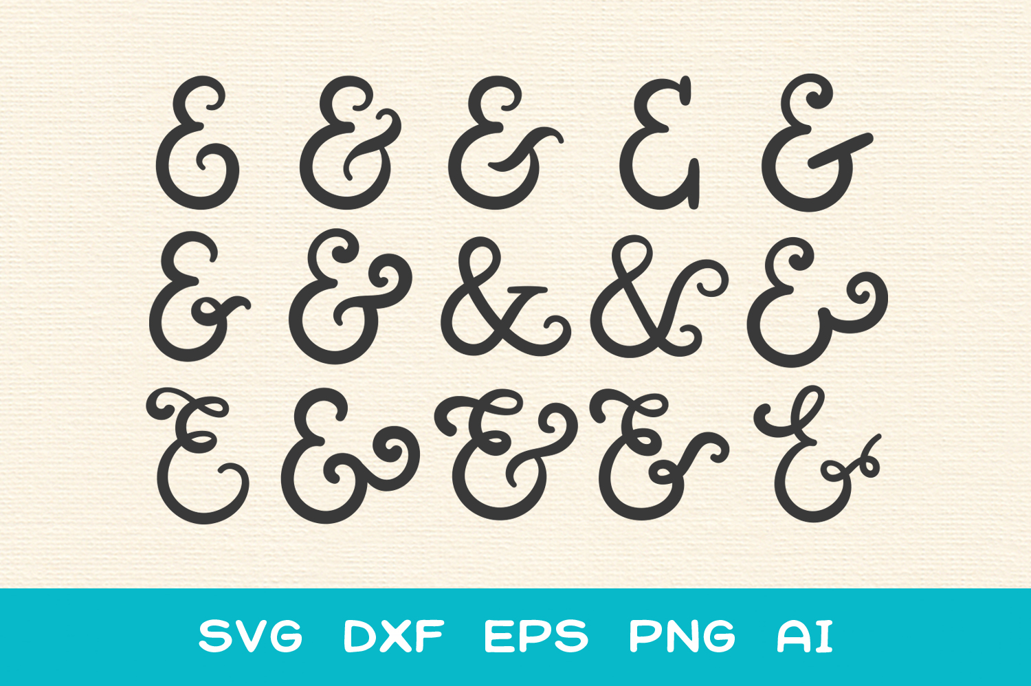 15 Ampersands for Crafters - SVG DXF EPS Cutting Files example image 2