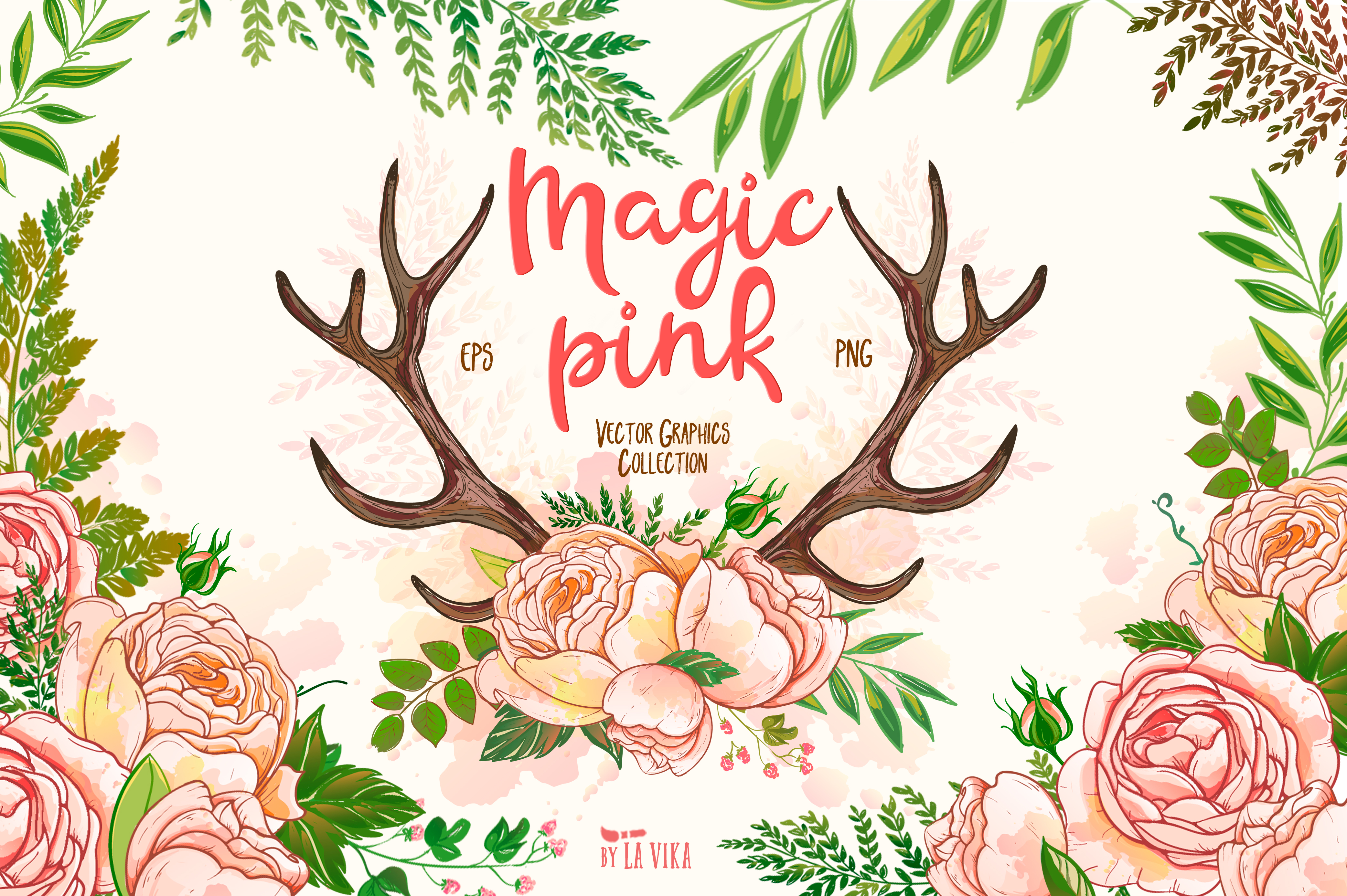 Vector graphics collection: Magic pink example image 1