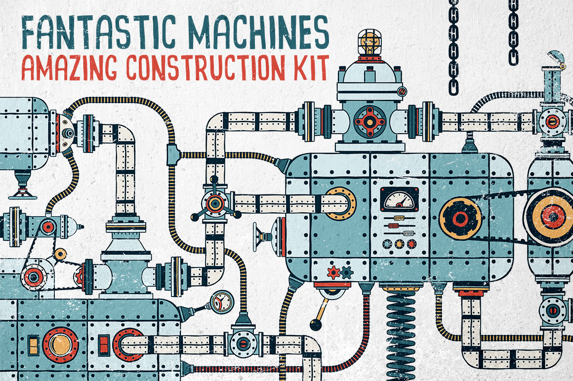 Fantastic Machines Construction Kit example image 1