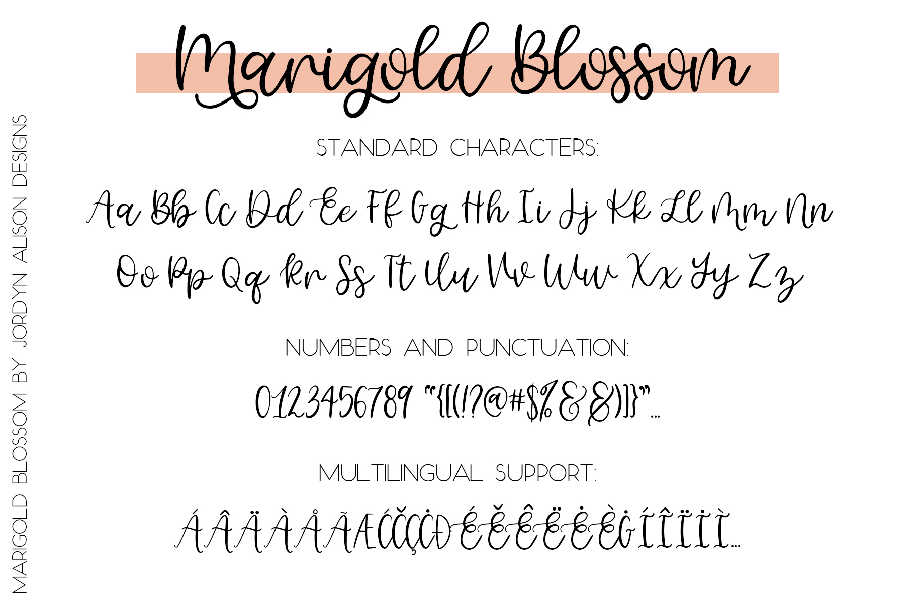 Marigold Blossom, Hand Lettered Script Font example image 6