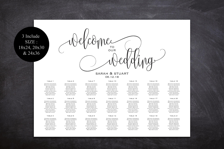 Wedding Seating Chart Template Welcome Wedding Seating Chart example image 3