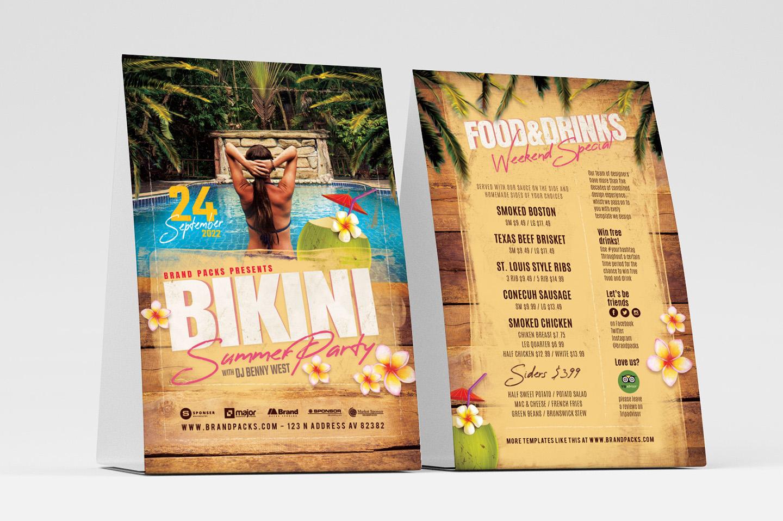 Bikini Party Flyer Template example image 1