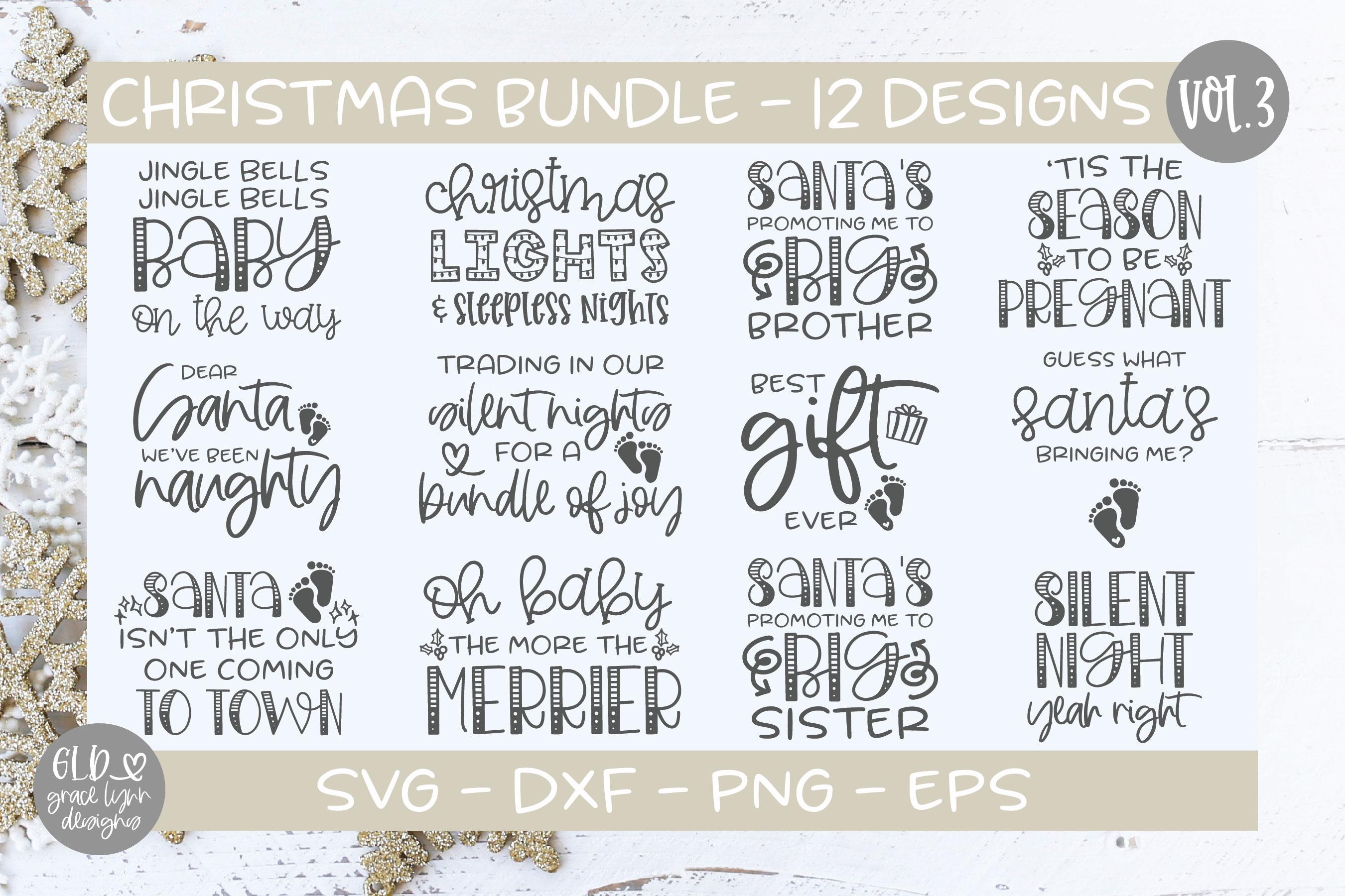 Farmhouse Christmas Bundle - 95 Christmas Designs example image 6