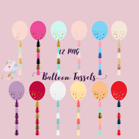 Balloon Tassels Clipart example image 1