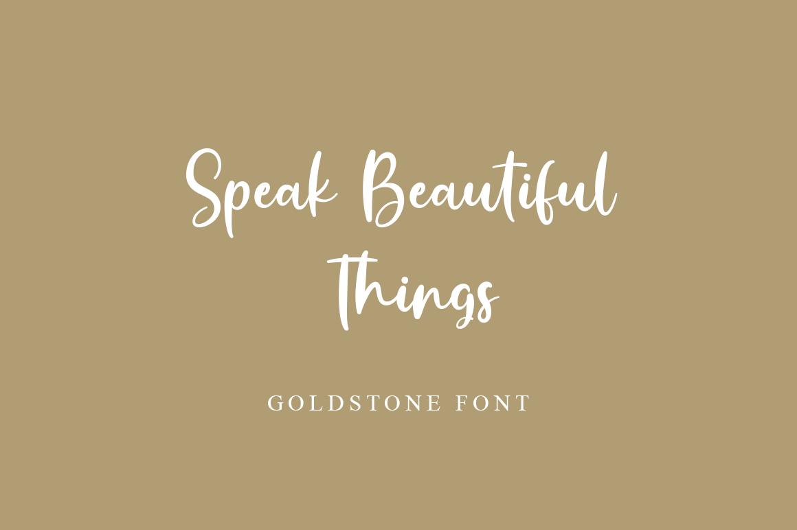 Goldstone - Stylish Handwritten Font example image 6