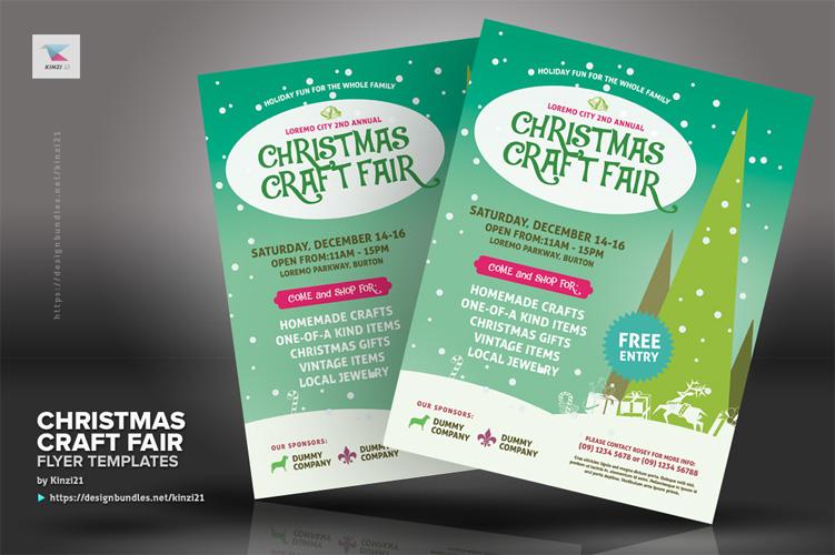 Christmas Craft Fair Flyer Templates example image 2
