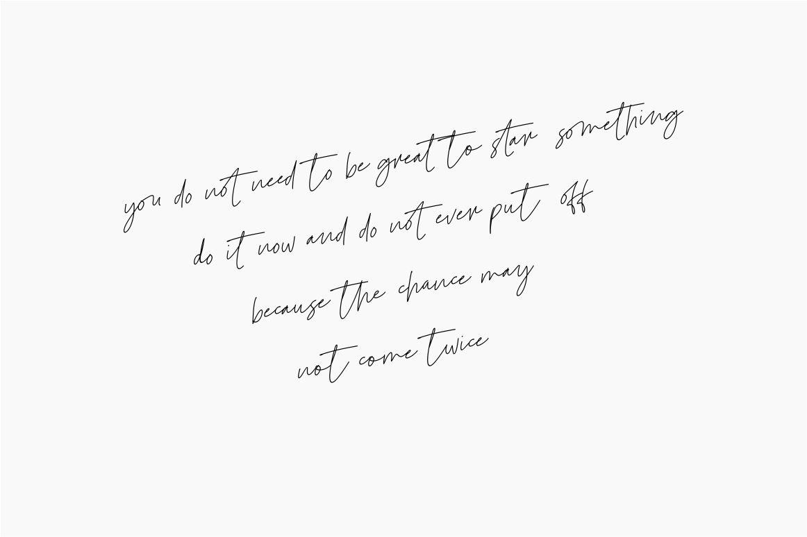 Le Festin // handwritten font example image 3
