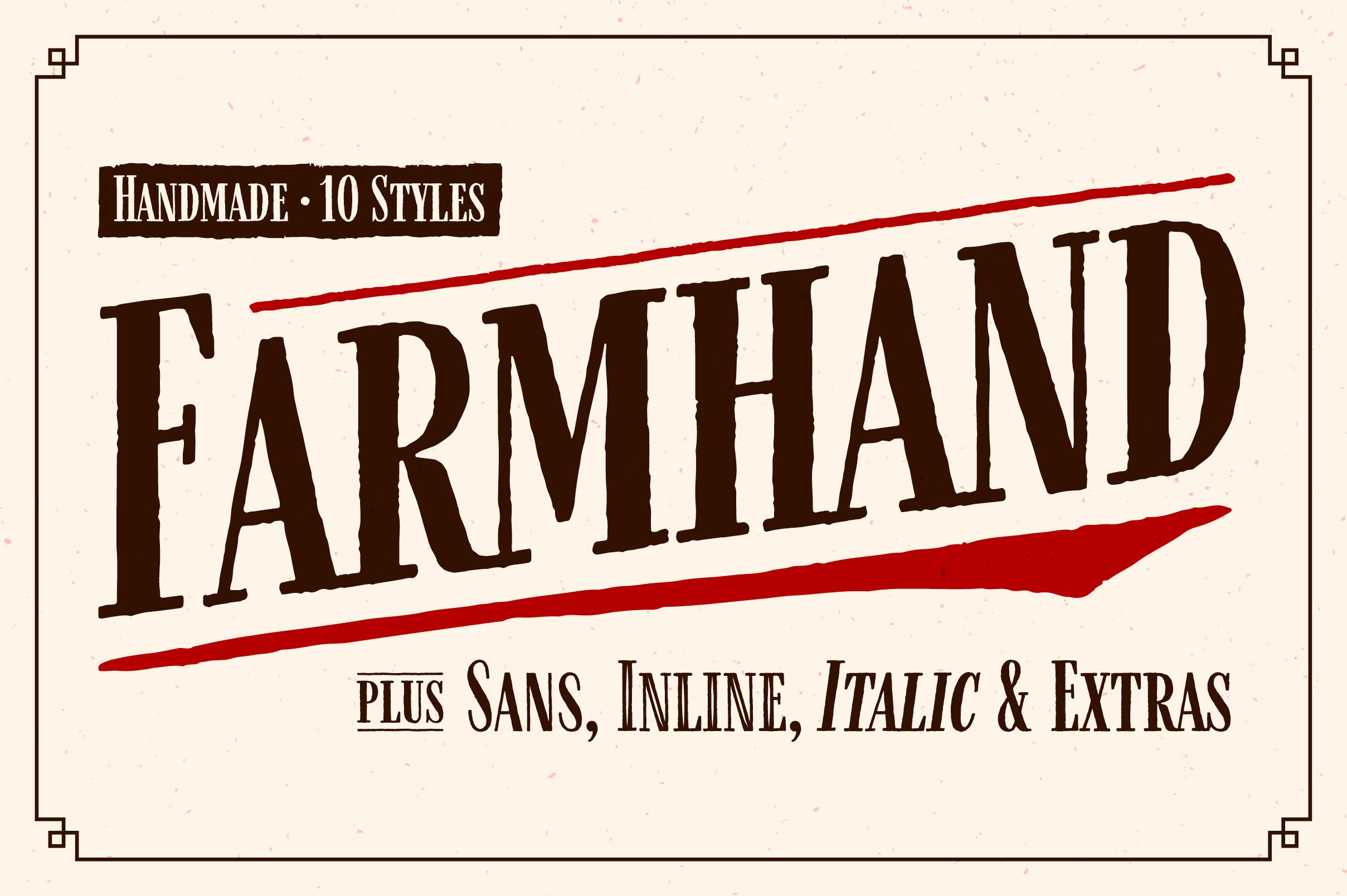 Farmhand Font Family example image 1