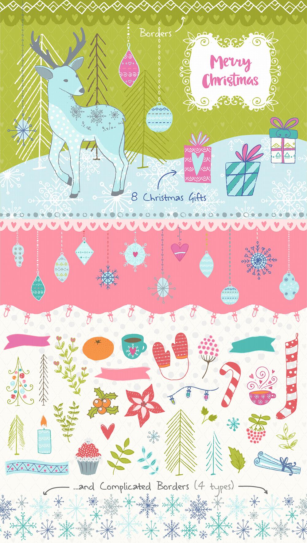 Christmas Hand Drawn Collection example image 3