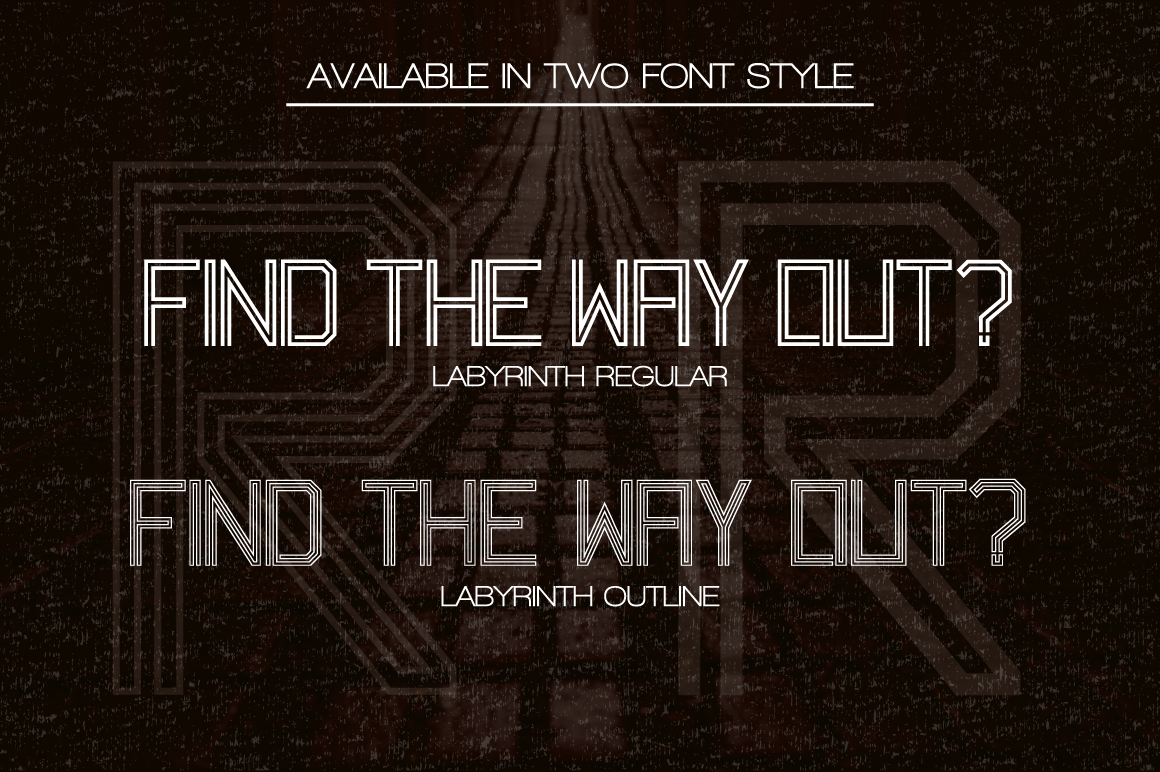 Labyrinth Typeface example image 2