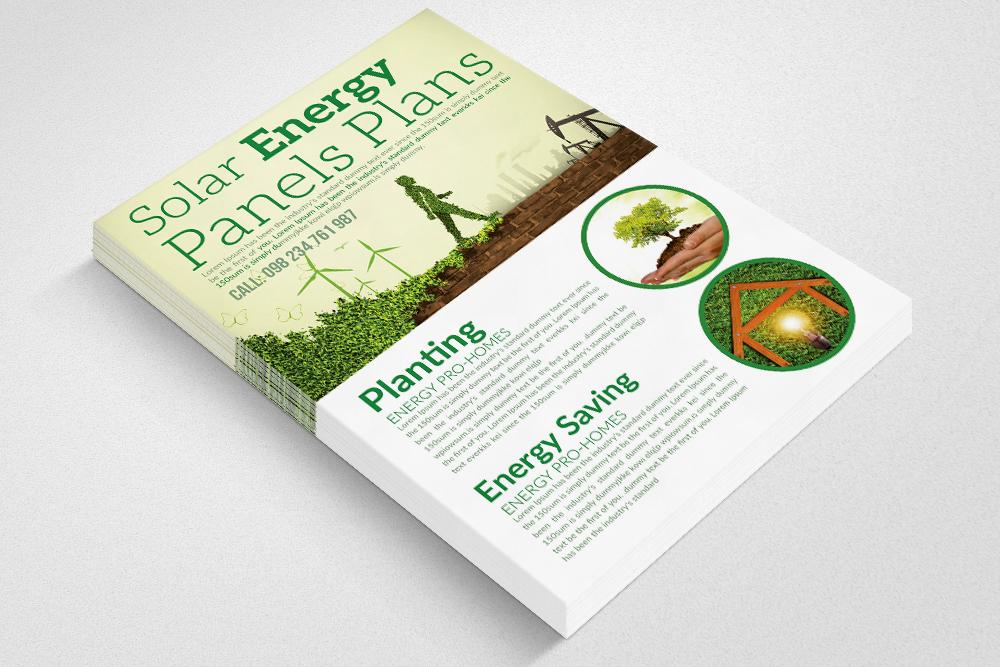 Renewable Energy - Go Green Flyer example image 2