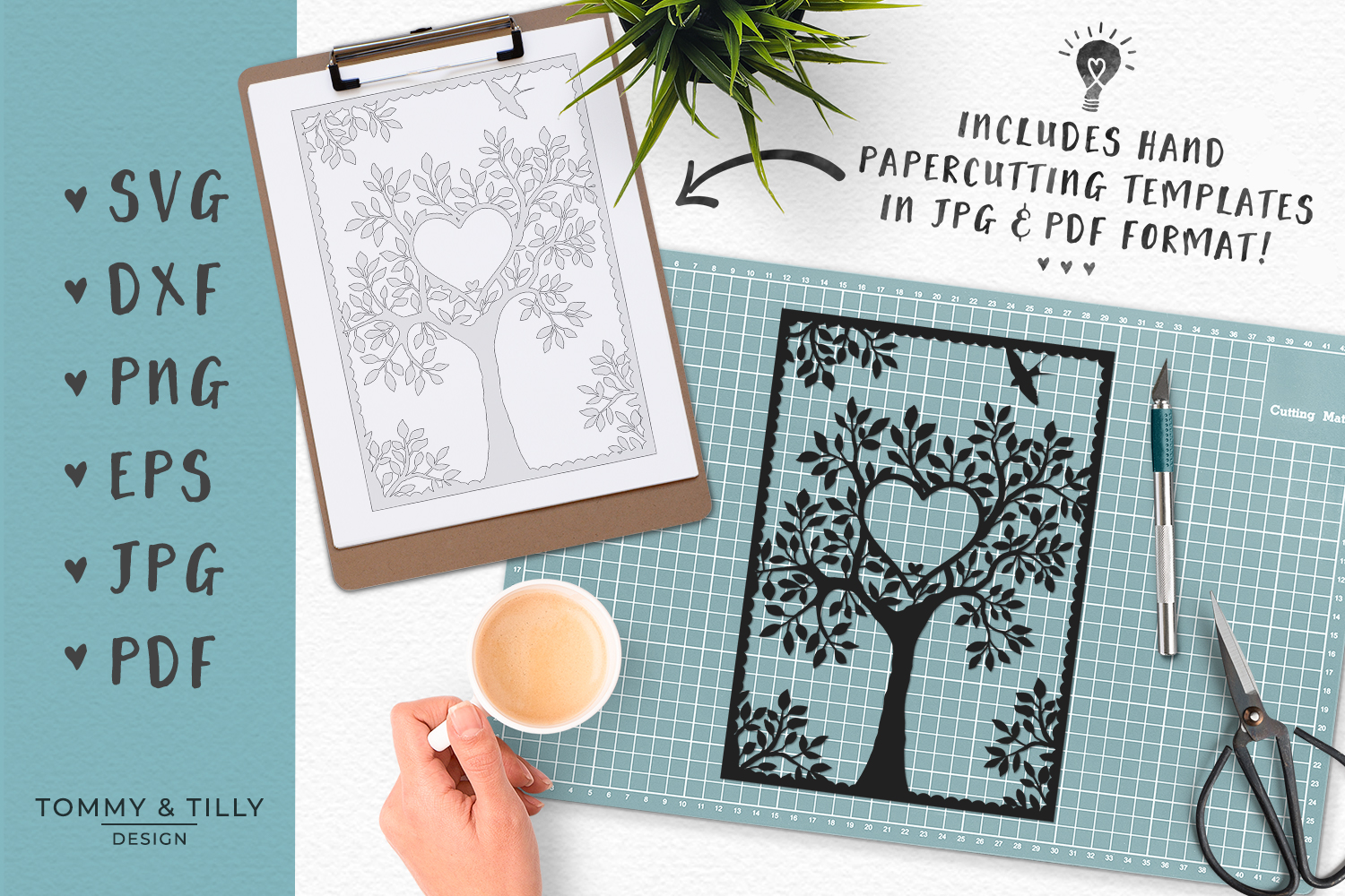 Natural Wedding Tree - SVG EPS DXF PNG PDF JPG Cutting File example image 3