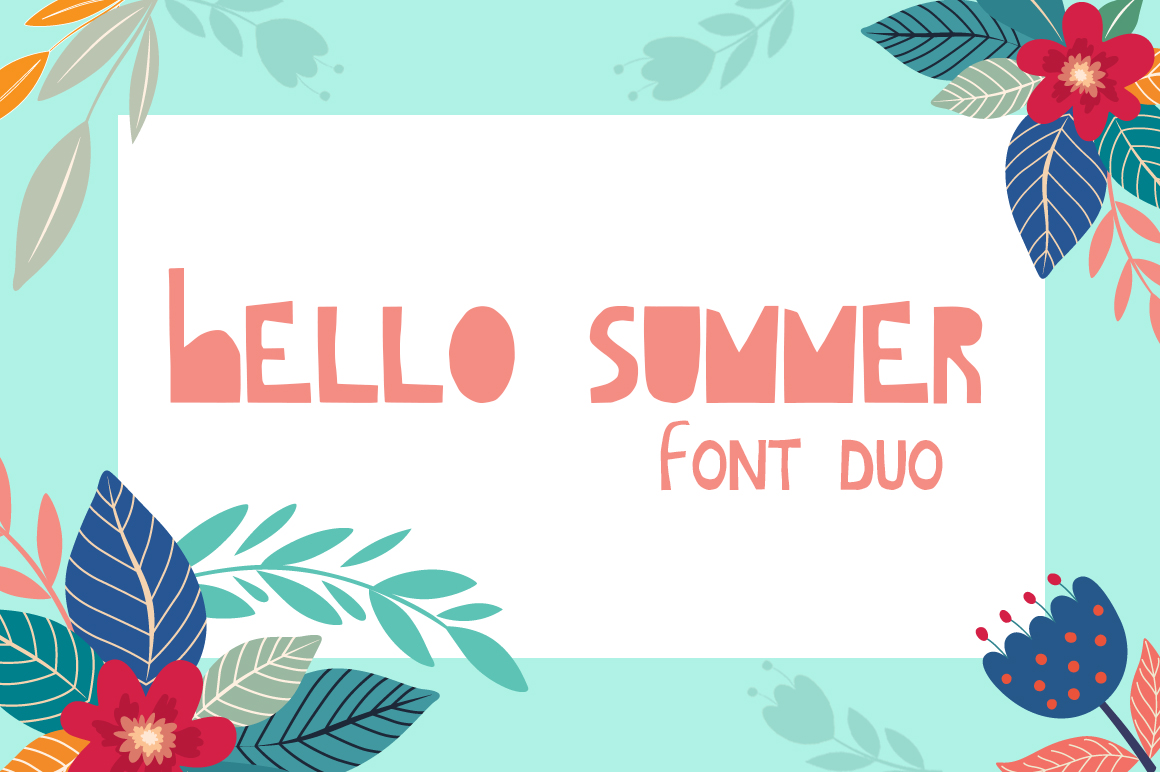 Hello Summer Cutout Font example image 1