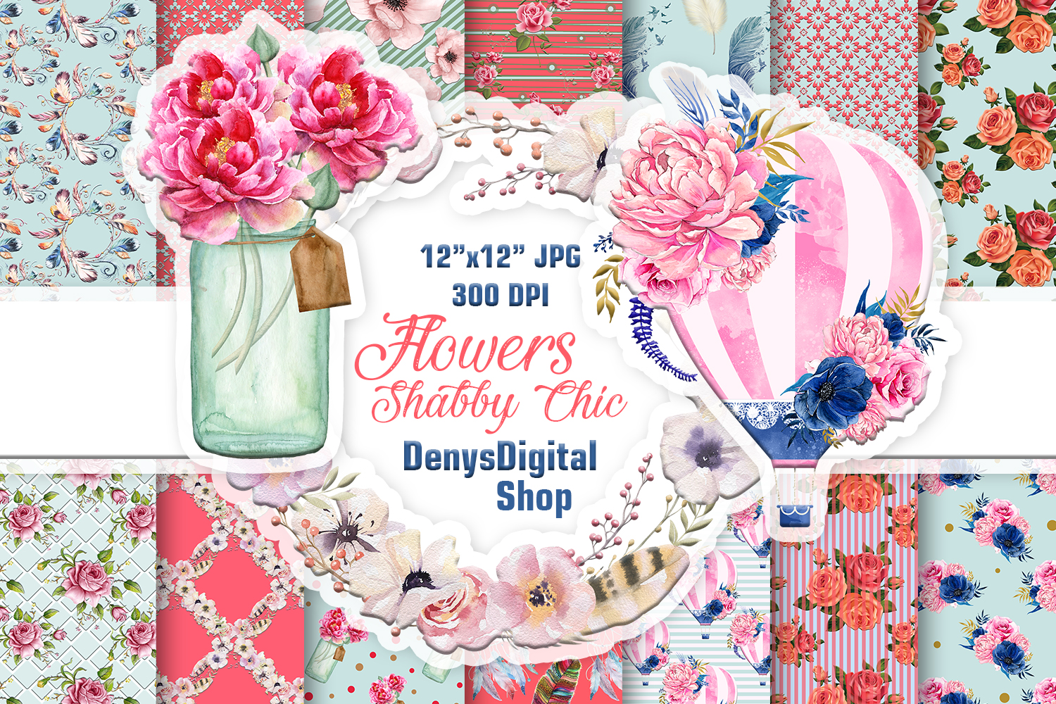 Shabby Chic, Flowers, Scrapbooking Papers, Black Friday ...