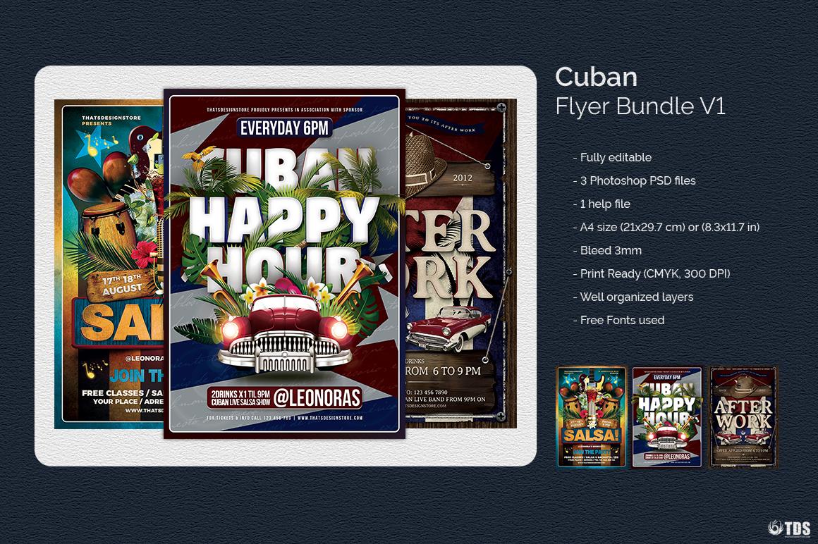 Cuban Flyer Bundle V1 example image 6