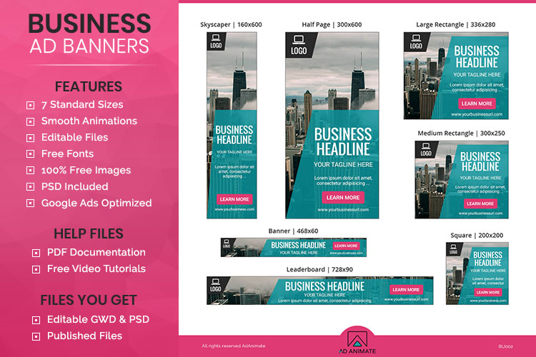 Business Banner Animated Ad Template Bu002
