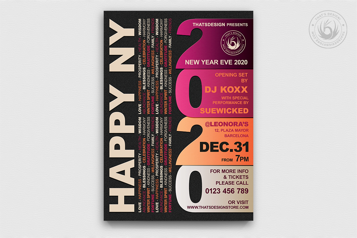 10 New Year Flyer Bundle example image 3