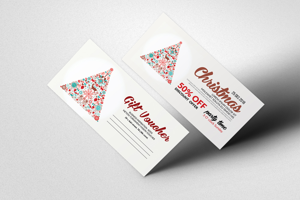 Happy Christmas Gift Voucher example image 1