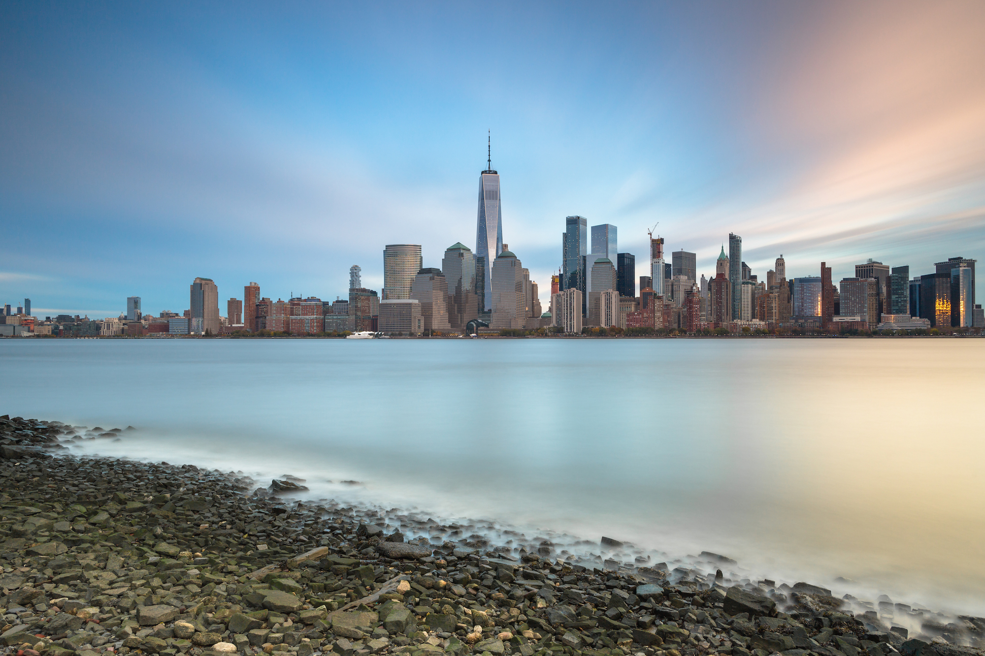 View on Financial District from Hudson river beach example image 1