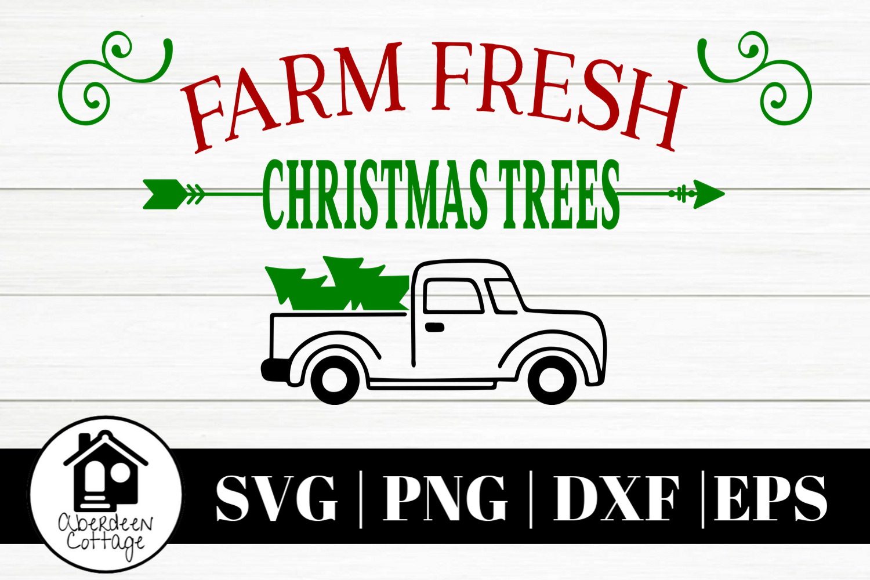 Farm Fresh Christmas Trees SVG | PNG | DXF | EPS example image 1