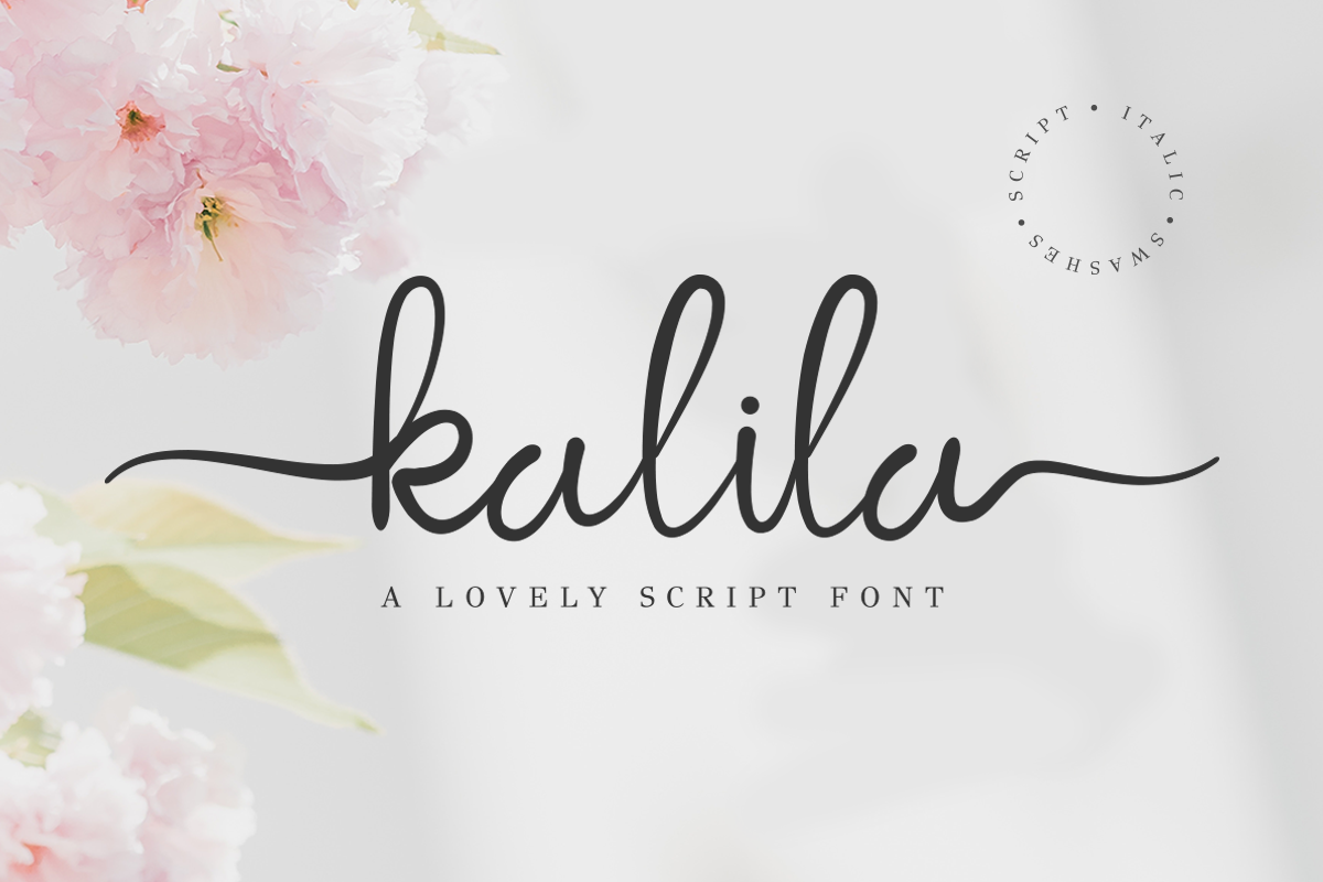 Kalila Lovely Script example image 1
