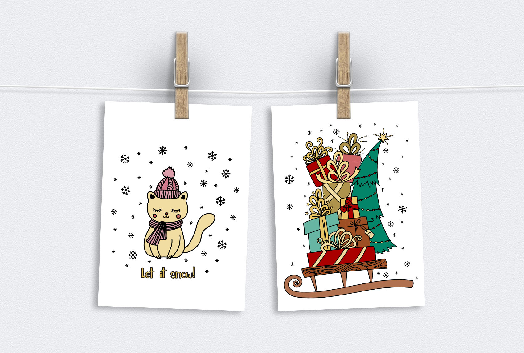 Christmas Doodles example image 7