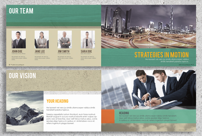 22 Page Corporate Annual Report Brochure Booklet example image 3