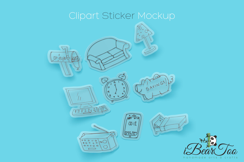 Furniture SVG Bundle Clipart Home Doodle Vector Cut Files example image 4