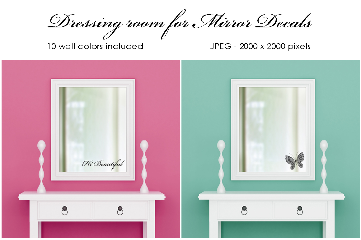 Dressing room for mirror decals example image 1