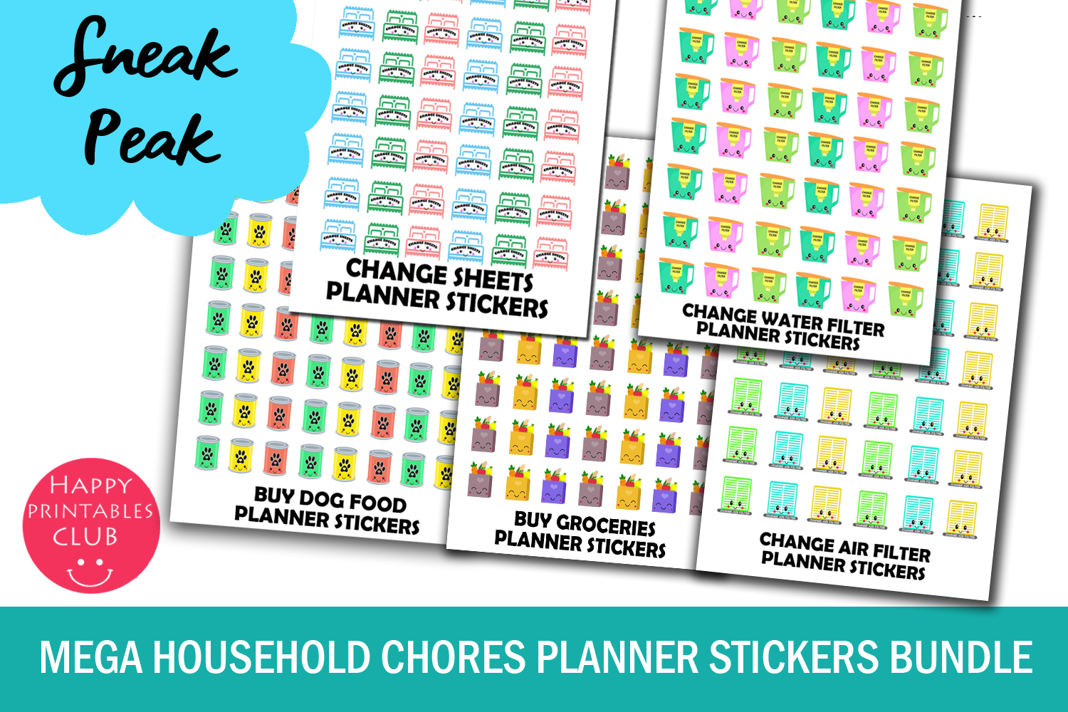 mega household chores planner stickers bundle pack