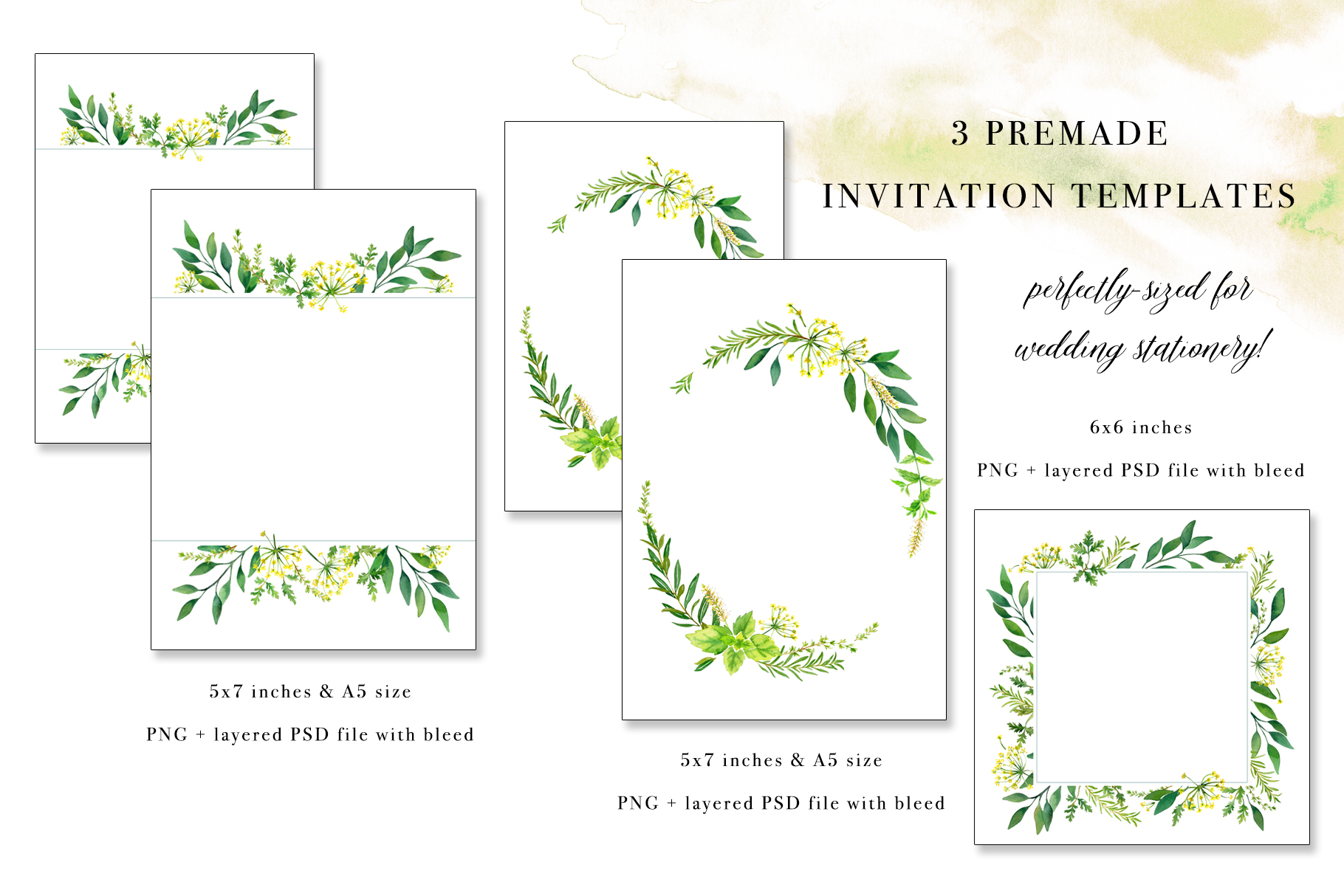 Floral Watercolor Bundle example image 11