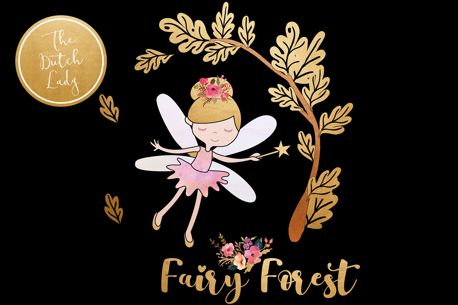 Enchanted Fairy Forest Clipart Set example image 2