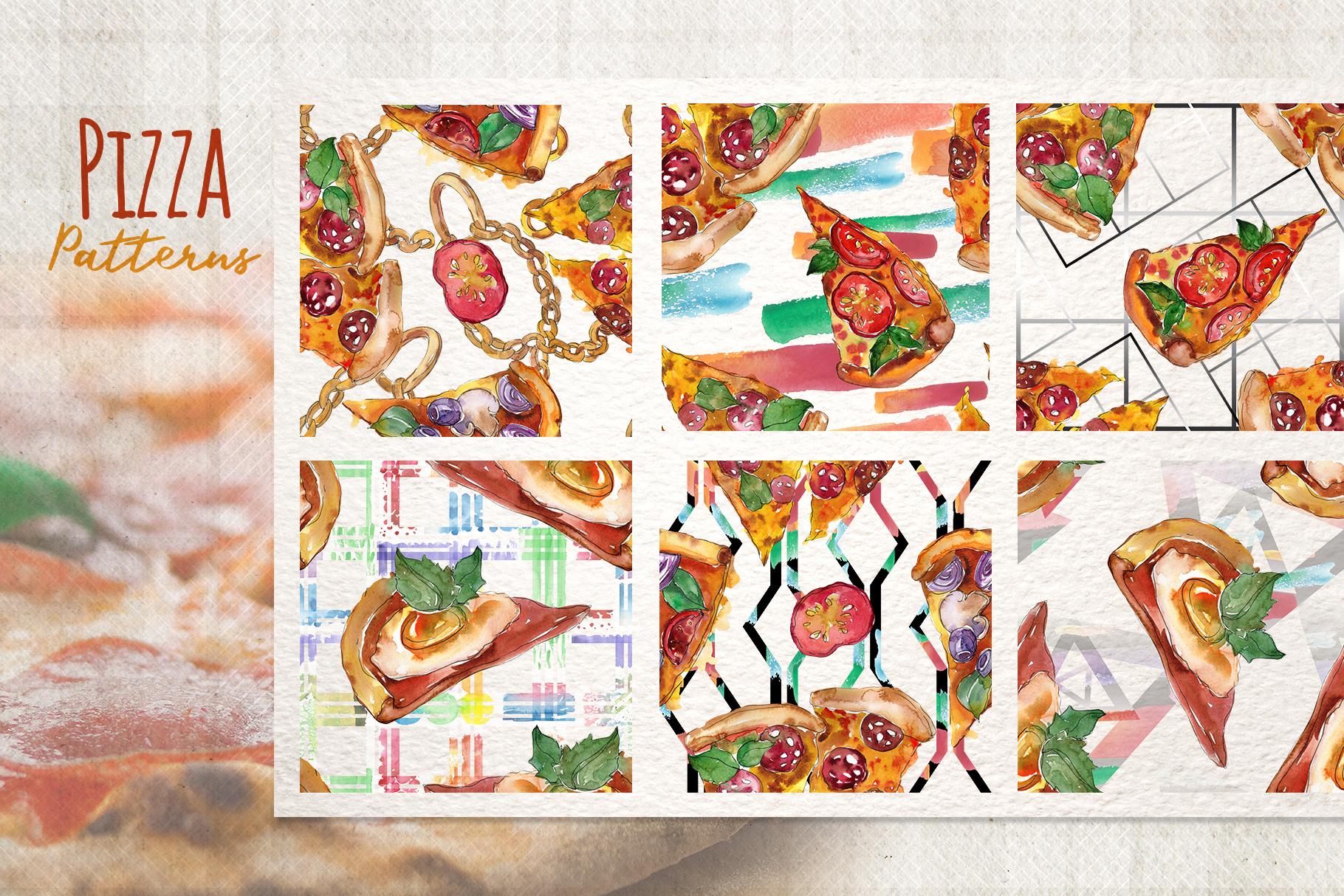 Hawaiian Pizza Watercolor png example image 3