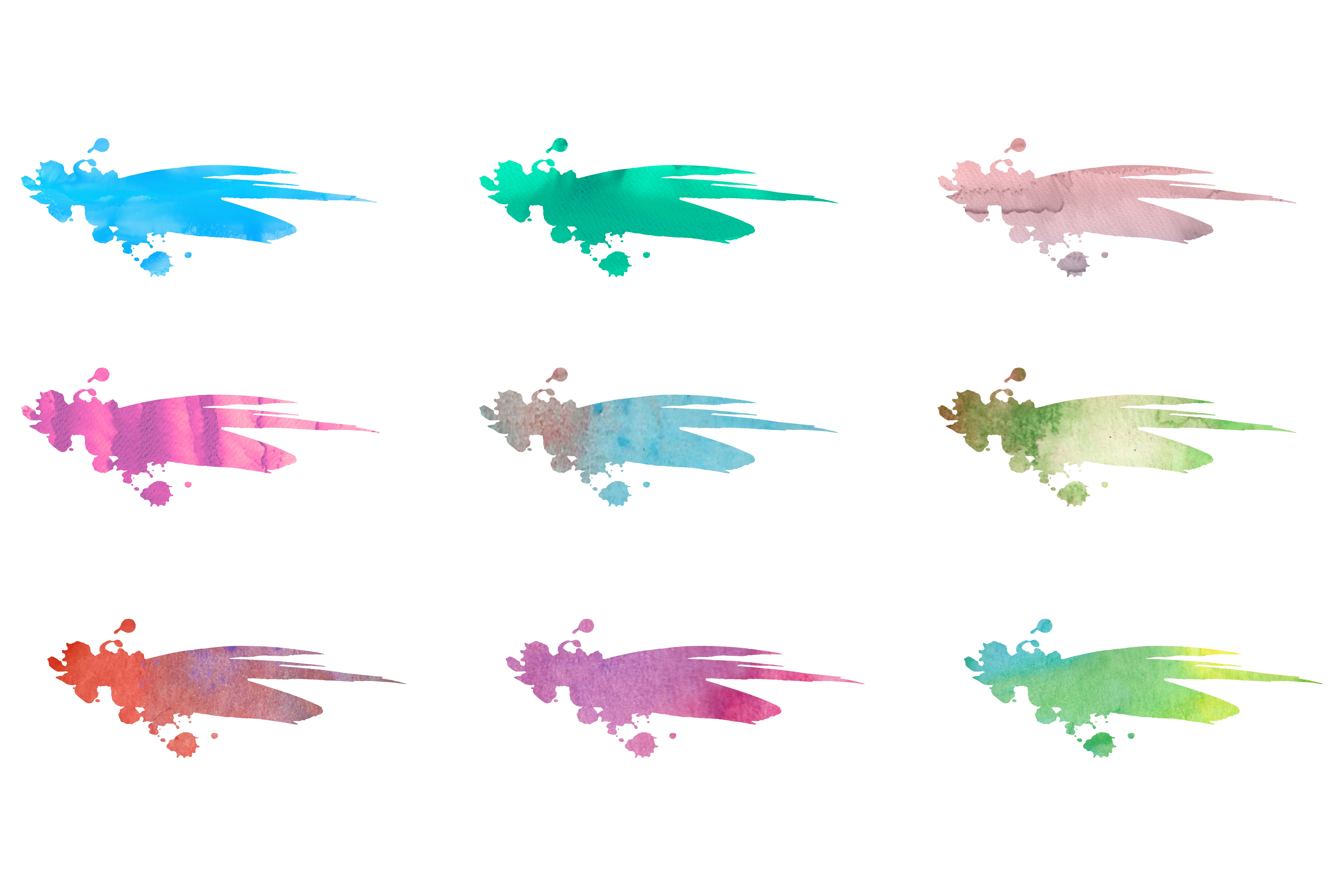 Elegant Split SVG and DXF Letters with Watercolor example image 3