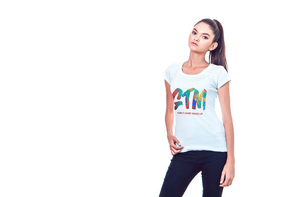 Women's T-shirts Mock-Up example image 12