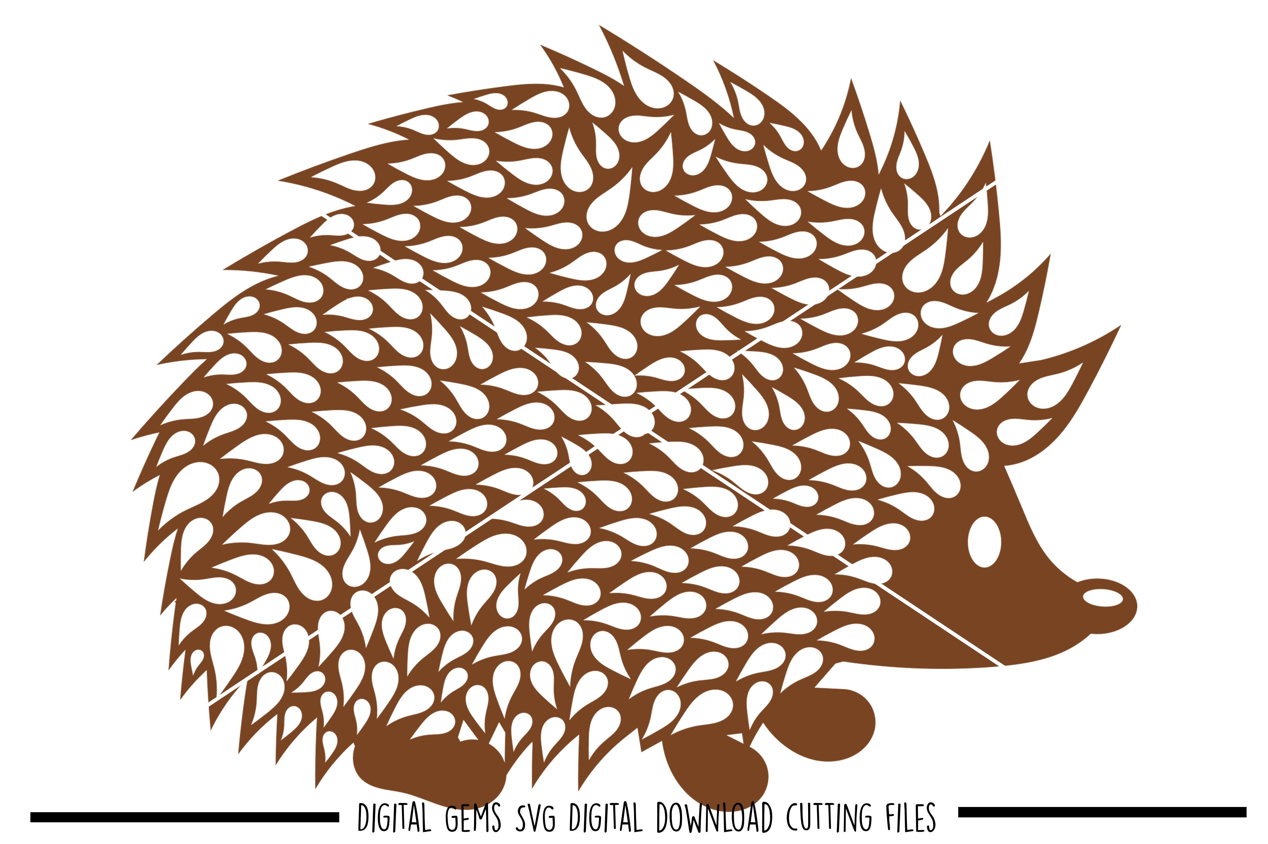 Hedgehog SVG / DXF / EPS / PNG files example image 1