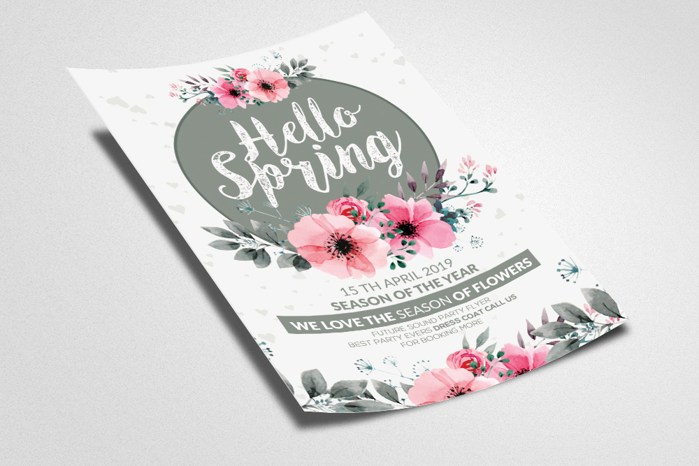Spring Flyer template example image 2