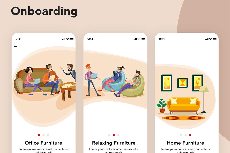 Furniture Design UI Kit example image 3