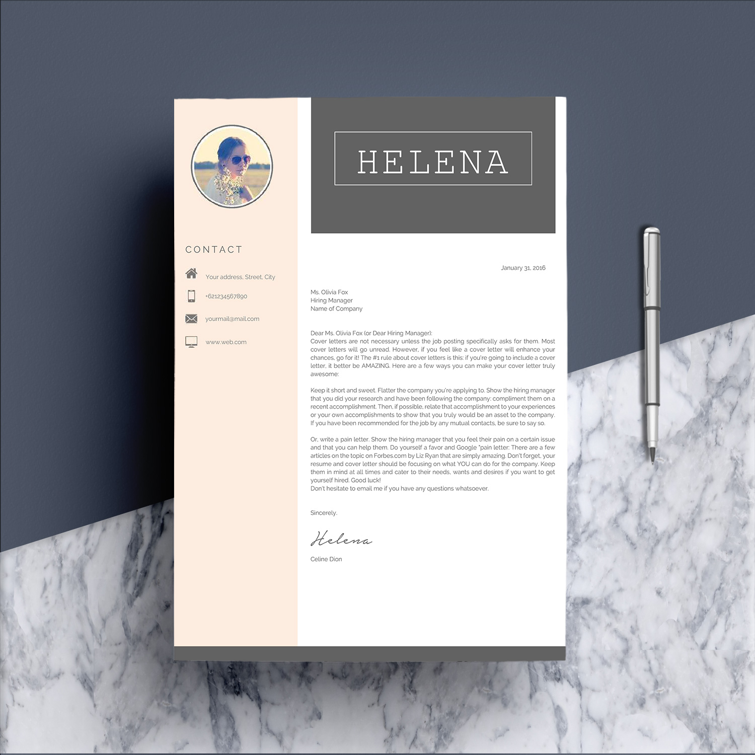 Professional Resume Template CV 4 Pages example image 5