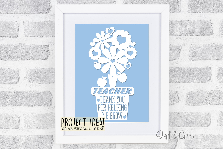 Teacher papercut bundle SVG / DXF / EPS / PNG Files example image 5