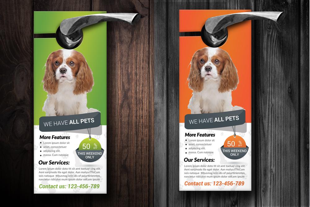 Pet Shop & Care Centre Door Hanger  example image 2
