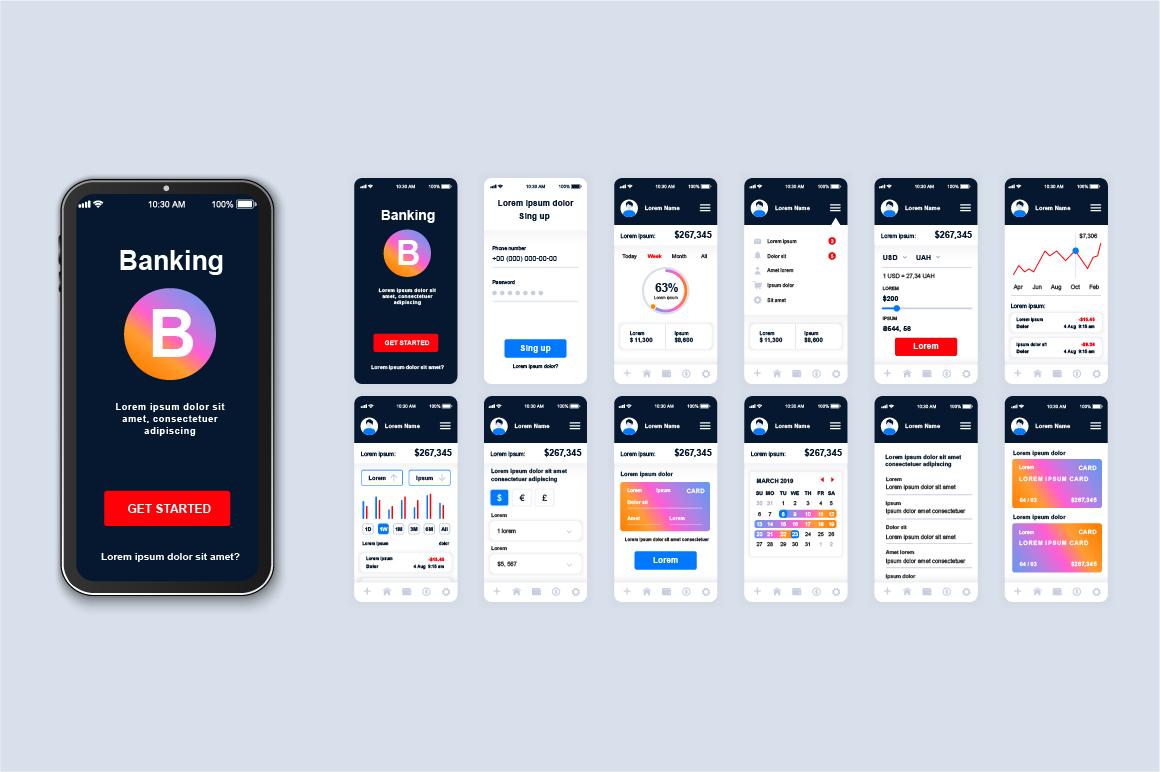 Bundle Mobile App UI Kit Screens example image 5
