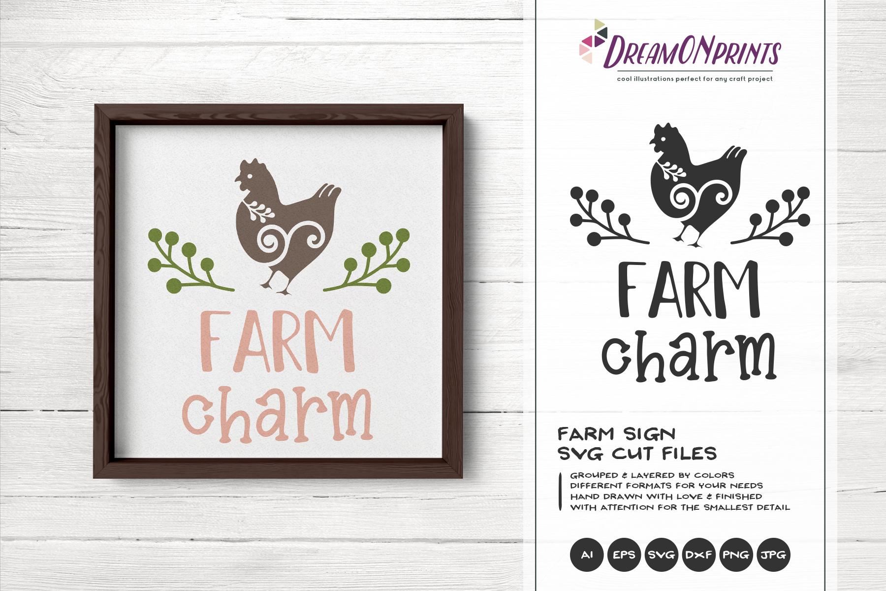 Farm Charm SVG Cut Files example image 1