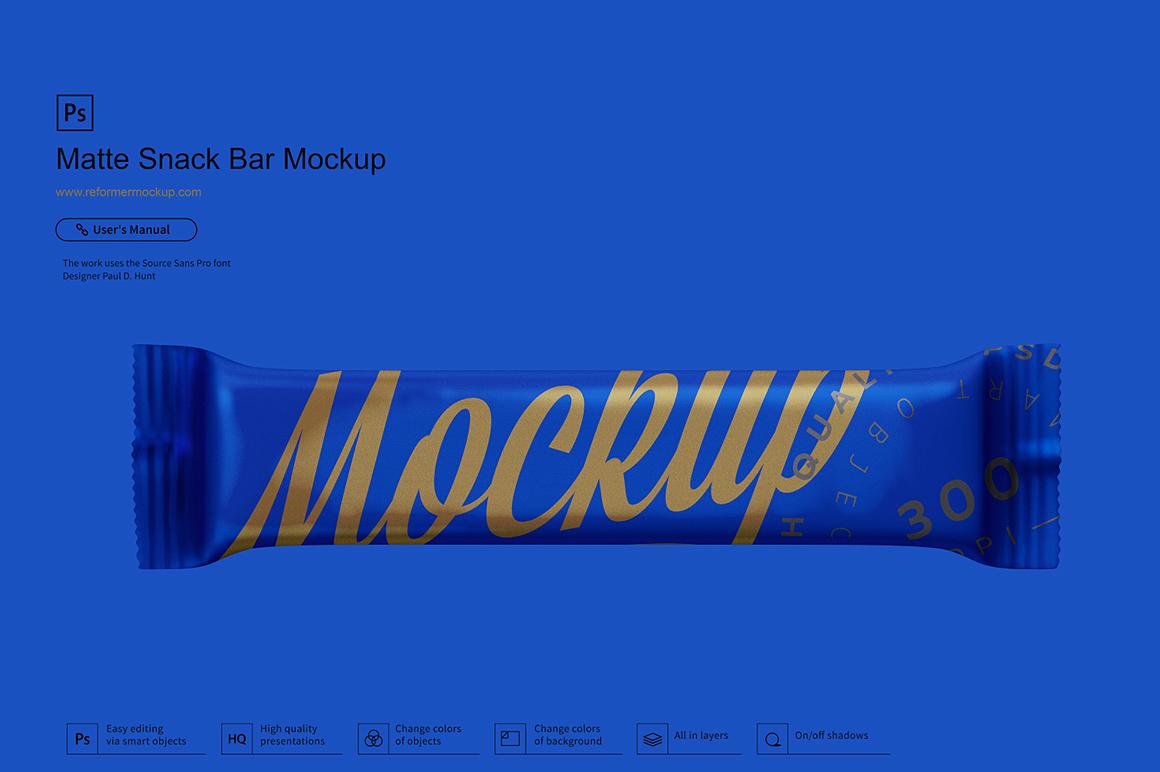 Matte Snack Bar Mockup example image 3